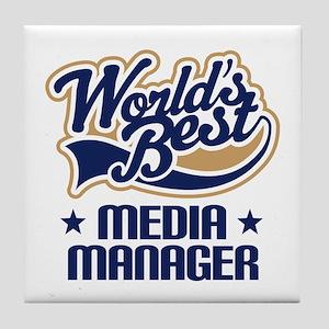Media manager Tile Coaster