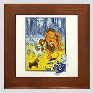 Wizard of Oz - Cowardly Lion Framed Tile