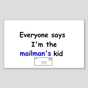 MAILMAN'S KID HUMOR Rectangle Sticker
