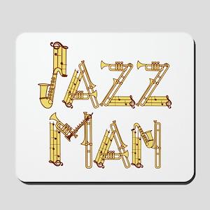 Jazz man sax saxophone Mousepad