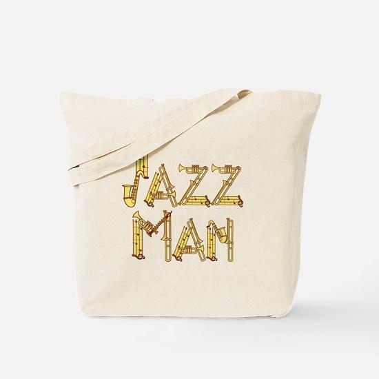 Jazz man sax saxophone Tote Bag
