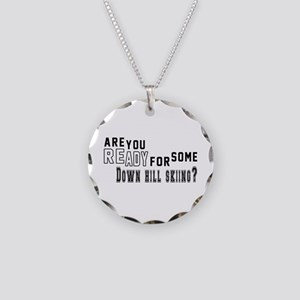 Are You Ready For Some Down Necklace Circle Charm