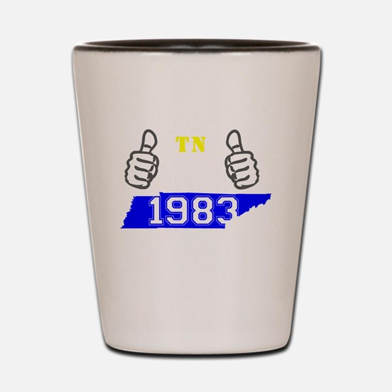 Funny Made in 1983 Shot Glass