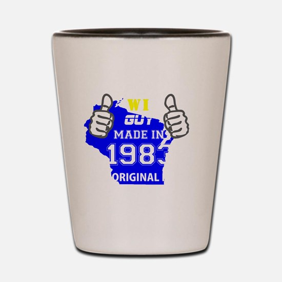 Cool Made in 1983 Shot Glass