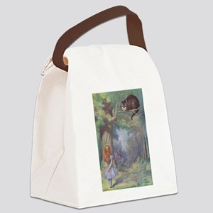 ALICE CHESHIRE CAT 12x17 Canvas Lunch Bag