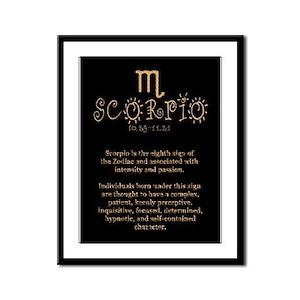 Scorpio Framed Panel Print