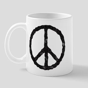 'Vintage' Peace Symbol Mug