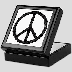 'Vintage' Peace Symbol Keepsake Box