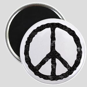 'Vintage' Peace Symbol Magnet