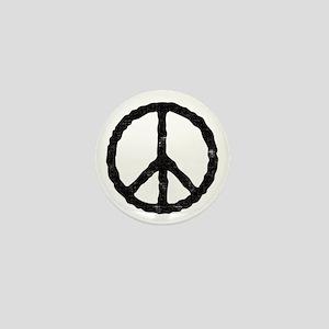 'Vintage' Peace Symbol Mini Button
