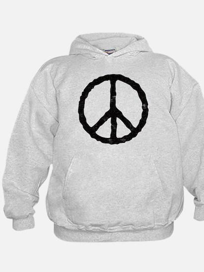 'Vintage' Peace Symbol Hoodie