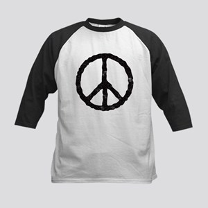 'Vintage' Peace Symbol Kids Baseball Jersey