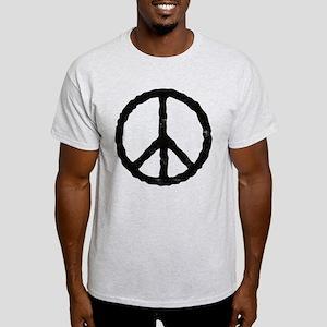 'Vintage' Peace Symbol Light T-Shirt