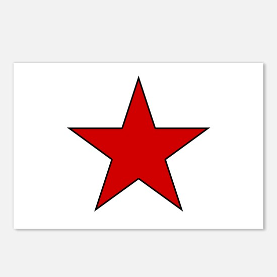Red Star Postcards (Package of 8)