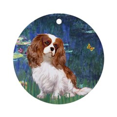 Lily Pond (#5) / Cavalier Ornament (Round)