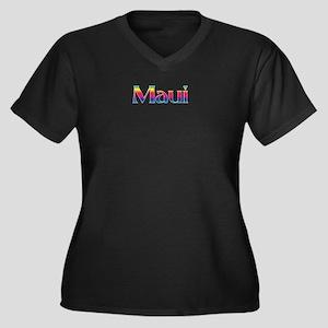 Maui Women's Plus Size V-Neck Dark T-Shirt