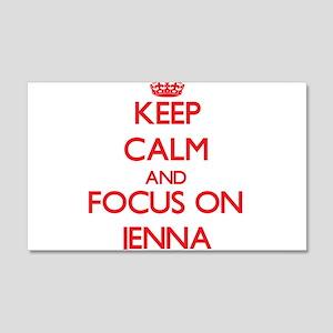 Keep Calm and focus on Jenna Wall Decal