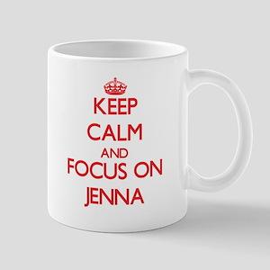 Keep Calm and focus on Jenna Mugs