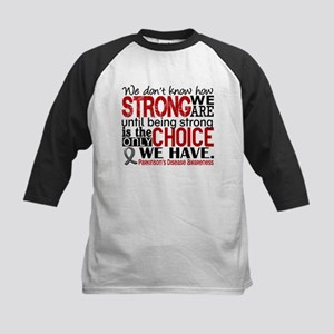 Parkinsons How Strong We Are Kids Baseball Jersey