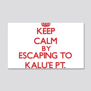 Keep calm by escaping to KaluE Pt. Hawaii Wall Dec