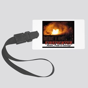 Firefighter Honor Pride Courage Luggage Tag