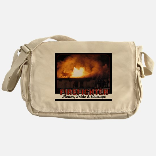 Firefighter Honor Pride Courage Messenger Bag