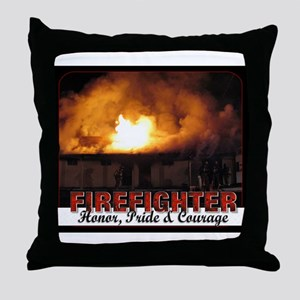 Firefighter Honor Pride Courage Throw Pillow