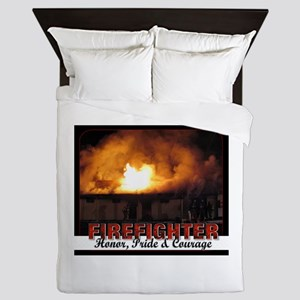 Firefighter Honor Pride Courage Queen Duvet