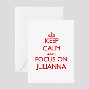 Keep Calm and focus on Julianna Greeting Cards
