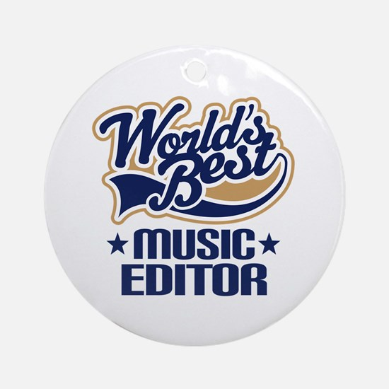Music editor Ornament (Round)