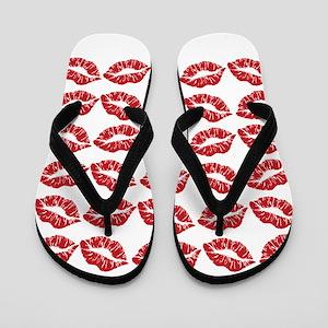 Kisses All Over Flip Flops