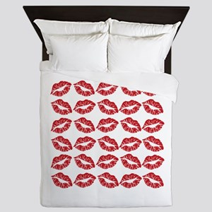 Kisses All Over Queen Duvet