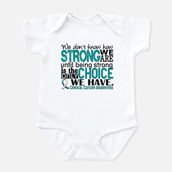 Cervical Cancer HowStrongWeAre Infant Bodysuit