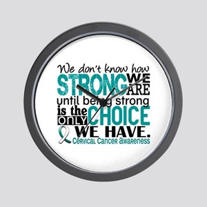 Cervical Cancer HowStrongWeAre Wall Clock