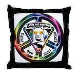 The WooFPAK Peace Sign Throw Pillow