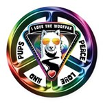 The WooFPAK Peace Sign Round Car Magnet