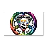 The WooFPAK Peace Sign Rectangle Car Magnet
