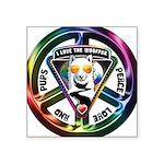 The WooFPAK Peace Sign Sticker