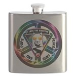 The WooFPAK Peace Sign Flask
