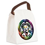 The WooFPAK Peace Sign Canvas Lunch Bag