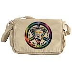 The WooFPAK Peace Sign Messenger Bag