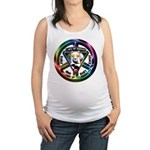 The WooFPAK Peace Sign Maternity Tank Top