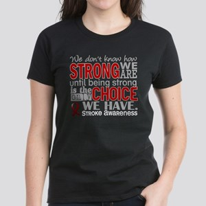 Stroke How Strong We Are Women's Dark T-Shirt