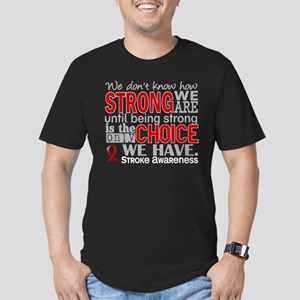 Stroke How Strong We A Men's Fitted T-Shirt (dark)