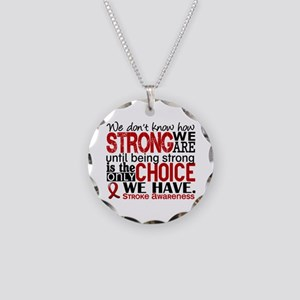Stroke How Strong We Are Necklace Circle Charm