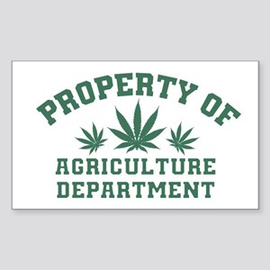 Property OF Agriculture Department Sticker