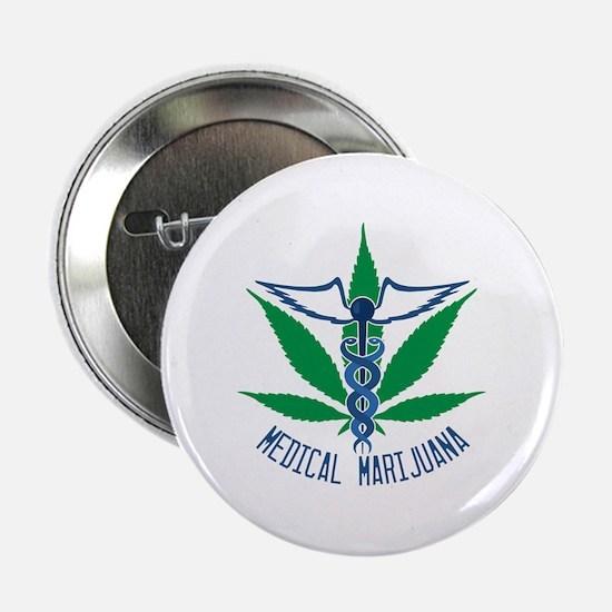 """Medical Marijuana 2.25"""" Button"""