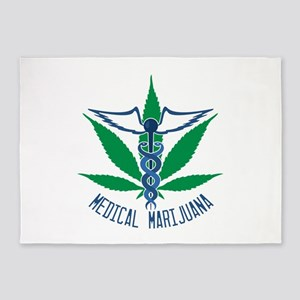 Medical Marijuana 5'x7'Area Rug