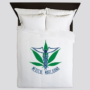 Medical Marijuana Queen Duvet