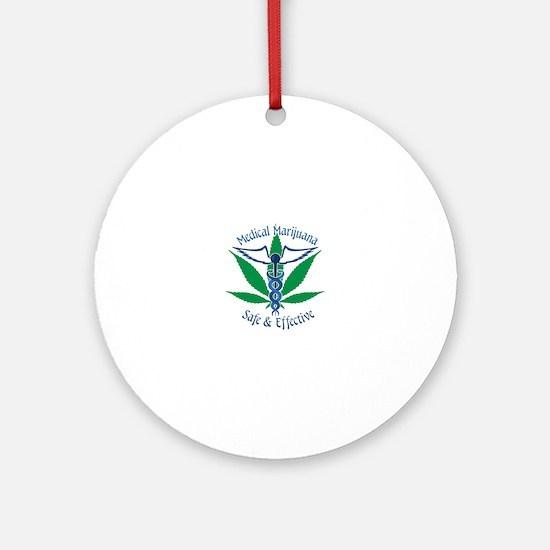 Medical Marijuana Safe & Effective Ornament (Round